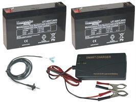 Batteri 2st 6volt-7,0Ah+Laddare+6volt kabel.Åtel MG883