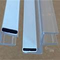 Magnetlist 180 gr. m/anslag for 5 mm glass - 1 par