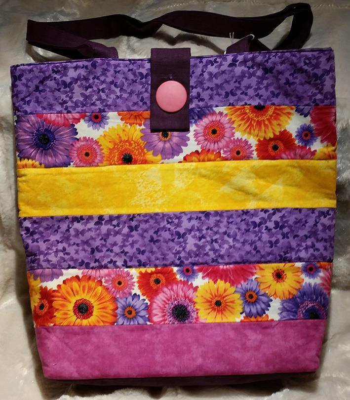 Sydd veske lilla-rosa-gul