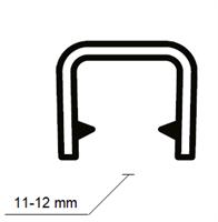 Kantprofil 17x14,4 mm Sort (11-12 mm) - Løpemeter