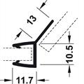 Kantlist 13 mm m/135 gr. sidetetning - 8 mm glass