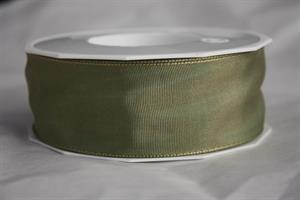 Band 40 mm 25 m/r nilgrön lyon med tråd