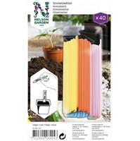Sticketikett plast färgade 40 st