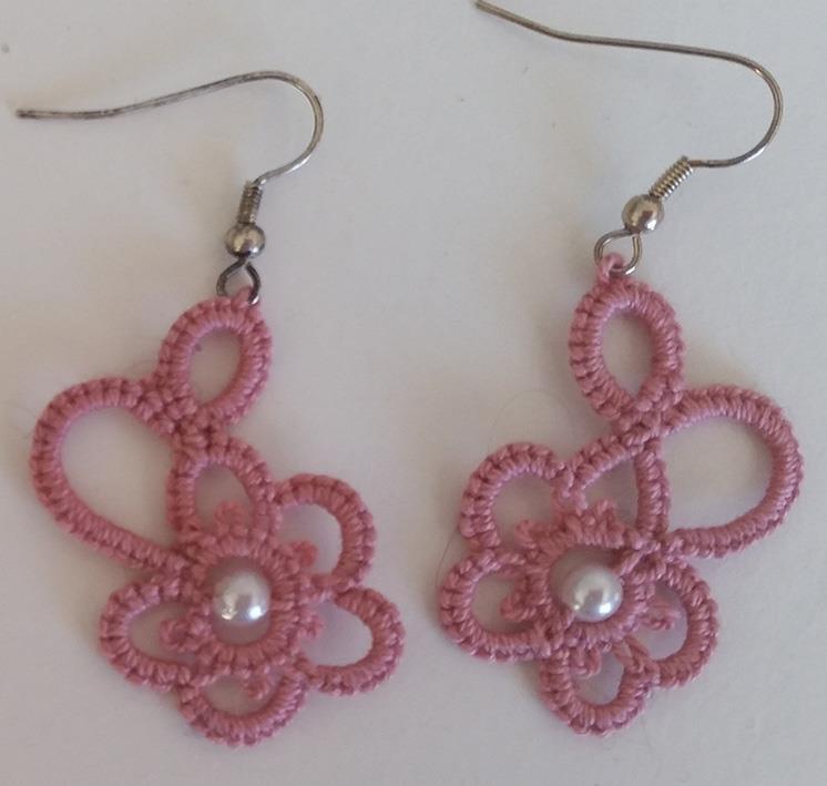 Ørepynt nupereller rosa