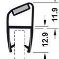Magnetlist 135 grader for 8 mm glass - 1 par