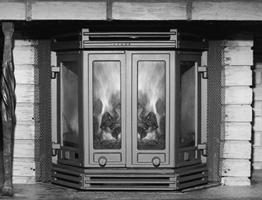 Dovre Fønix CB / 1900 GL - Peisglass (gammel mod.)