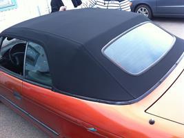 Sufflett Opel Astra 93-98 vinyl svart original