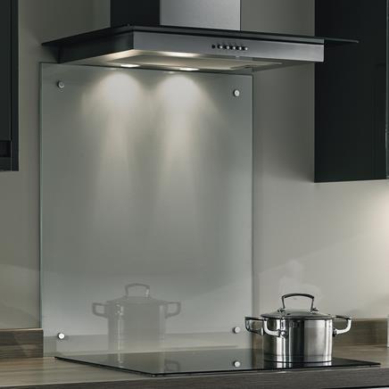 Glass over kjøkkenbenk komfyr glassplate kjøkken koketopp beskyttelsesplate kitchen board splashback