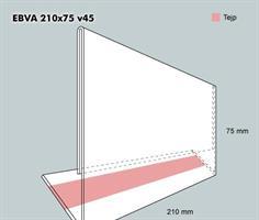 Etiketthållare EBVA 210-75F vinklad 45°