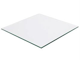 Bordplate 1000x1000x6 mm herdet klart glass