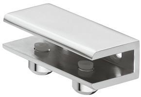Hylleholder 59x39x18 mm krom - 2 stk