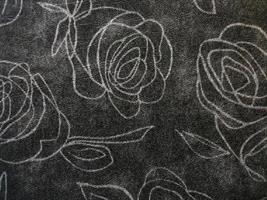 Konstläder Roses antrazith m silver rosor
