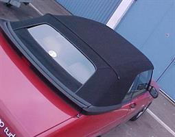 Sufflett SAAB 900 87-93 tyg svart glas combo