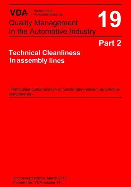 VDA Vol 19.2 Teknisk renhet vid montering (ENG)