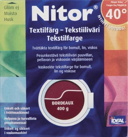 TEXTILFÄRG BORDEAUX 34 NITOR
