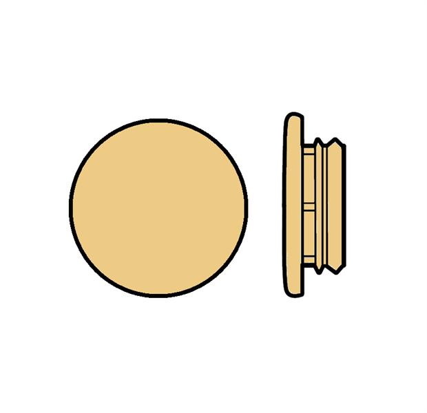 Karmplugg 10 mm Beige - 16 stk