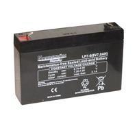 Batteri 6 Volt-7,0 Ah Blyack.Åtel/Larm