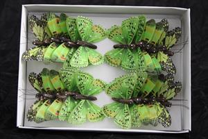 Fjäril grön 7,5cm 24/fp