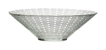 Glasskål vågig kant D23cm 12/fp