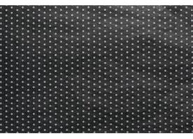 Silkespapper 240 ark prickar svart/vit