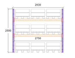 Startsektion h:2500 b:2750 mm 2 nivåer