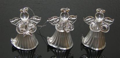 GLASÄNGEL h4,5cm 6-p silver