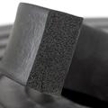 Firkantprofil 40x15 mm sort EPDM svamp - Løpemeter