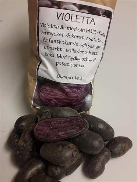 Potatis tvättad Violetta ca 1kg