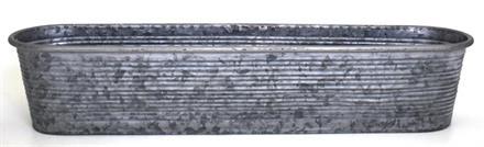 Balkonglåda zink Rand 50x13cm H11cm