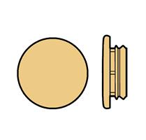 Karmplugg 12 mm Beige - 16 stk