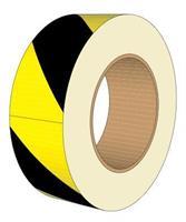 Märkning asfalt rulle gul/svart 24mx90mm