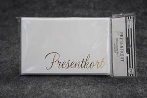 Presentkort med kuvert 10st/fp