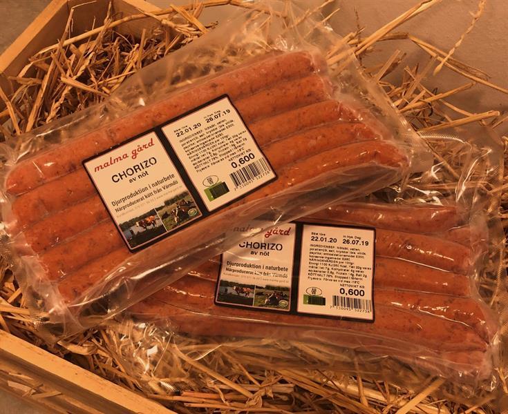 Nöt Chorizo 10-pack