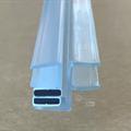 Magnetlist 180 gr. m/anslag for 8 mm glass - 1 par