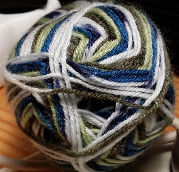 Kinna Textil Sock 4 print blå/brun