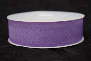 Band 25 mm 50 m/r organza lila