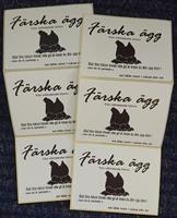 Etikett - Färska ägg från välmående hönor