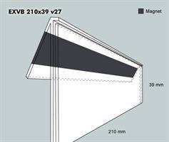 Etiketthållare EXVB 210-39F 27V mag