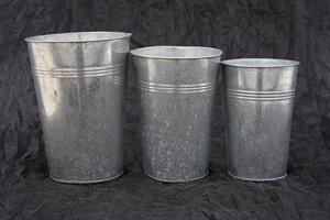 Zinkkrukor hög modell olika storlekar