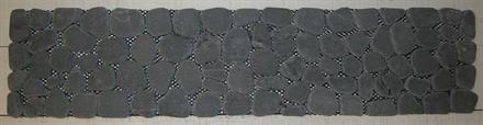 MARMORLÖPARE 14x60cm svart