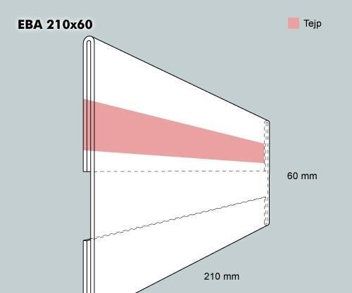 Etiketthållare EBA 210-60F