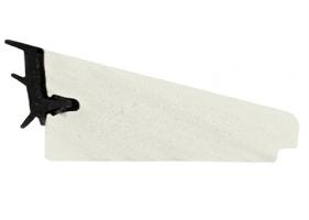 PVC glasslist 38x17 mm hvit m/tettelist - 205 cm