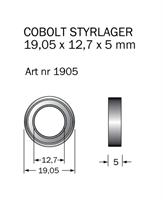 Kullager 19,05 x 12,7mm, (3/4