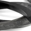 Firkantprofil 20x20 mm sort EPDM - Løpemeter