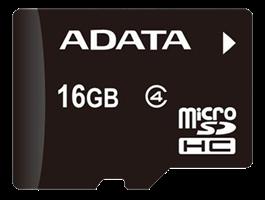 Minne Micro SDHC 16GB ADATA