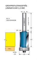 Kantfräs D=19 övermått 1.5mm