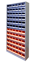 Backskåp 9006  blå/gul  2000x950x250 HxBxD