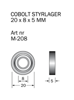 M-208 Kullager 20 x 8 x 5 mm