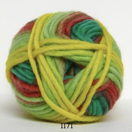 Kinna Textil Naturull print gul/grön/rosa/blå