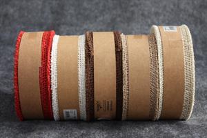 Juteband 50 mm ca 20 m/r  olika färger